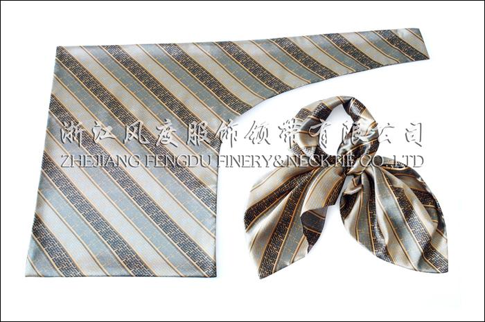 农行 仿丝双层刀型丝巾
