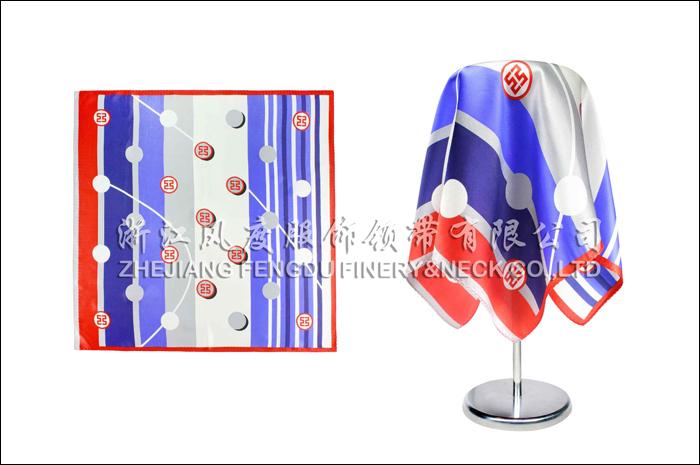 工商银行 必威体育直播平台下载小方巾 规格:53x53cm