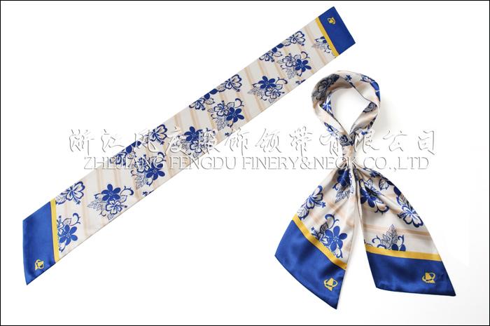 广西机场 仿丝双层斜角长巾 规格:80x10cm