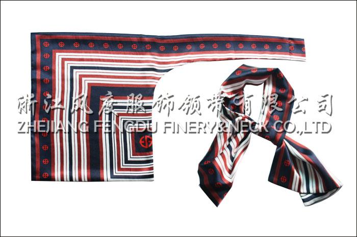 沈阳地铁 仿丝双层刀型丝巾